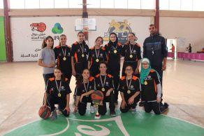 الفوز بالمركز الأول لكرة السلة بنات على مستوى محافظة رام الله و البيرة